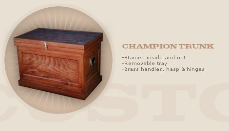 LARGE CHAMPION TRUNK: $825