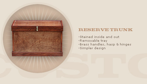 RESERVE TRUNK: $650
